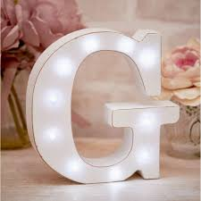 La De Da Living - Distressed LED Light Letter - G