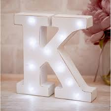La De Da Living - Distressed LED Light Letter  - K