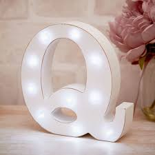 La De Da Living - Distressed LED Light Letter - Q