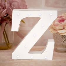 La De Da Living - Distressed LED Light Letter - Z