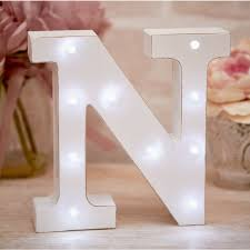 La De Da Living - Distressed LED Letter Light - N