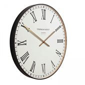 "Thomas Kent - 21"" Clocksmith Wall Clock - Black"