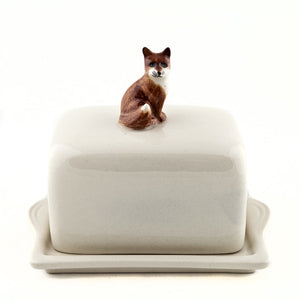 Quail - Ceramic Fox Butter Dish