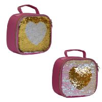 My little Lunch Heart Sequin Lunch Bag