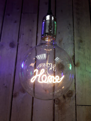 Amber Bright LED Message in a Bulb - Pendant - Home