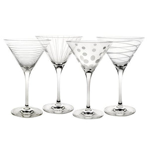 Mikasa Set Of 4 Martini Glasses