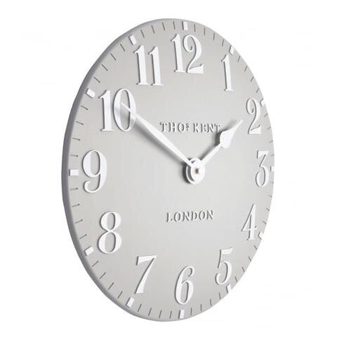 Thomas Kent - Arabic Dove Grey Wall Clock-12inch