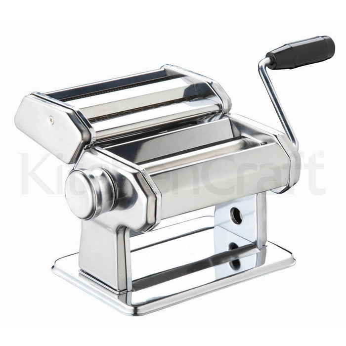 KitchenCraft - World of Flavours Italian Deluxe Double Cutter Pasta Machine