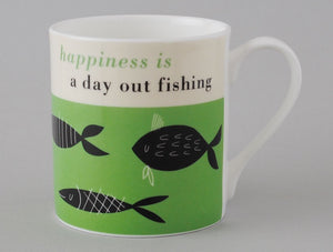 Happiness large mug fish green