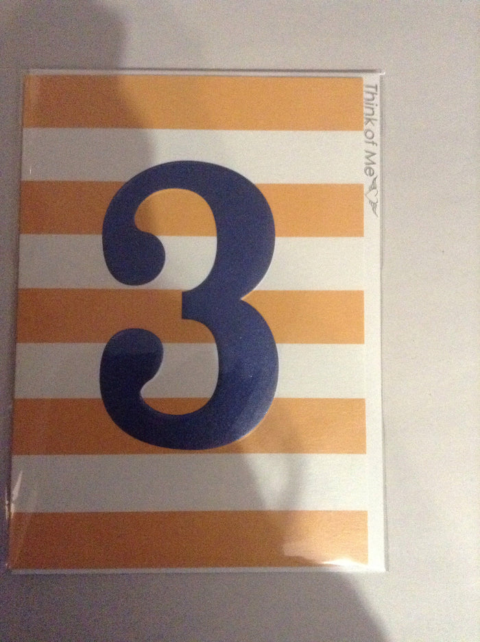 Think of me '3' yellow stripes