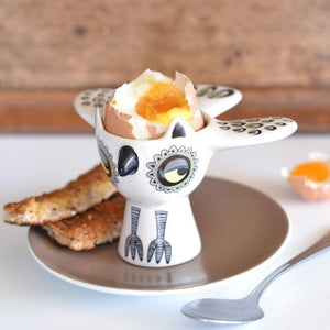Hannah Turner - Owl Egg Cup Yellow