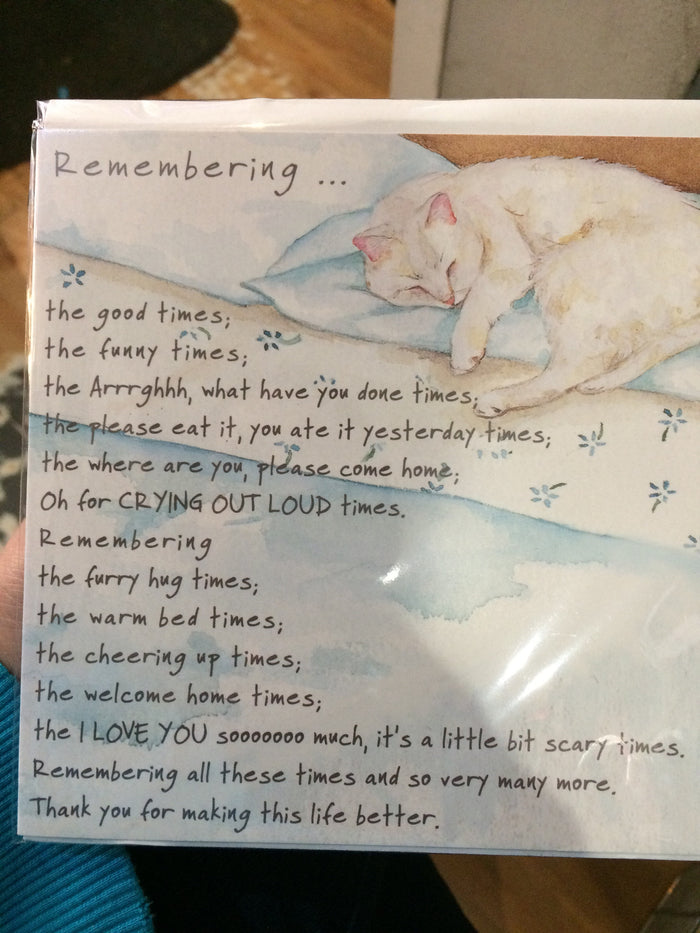 Remembering cat