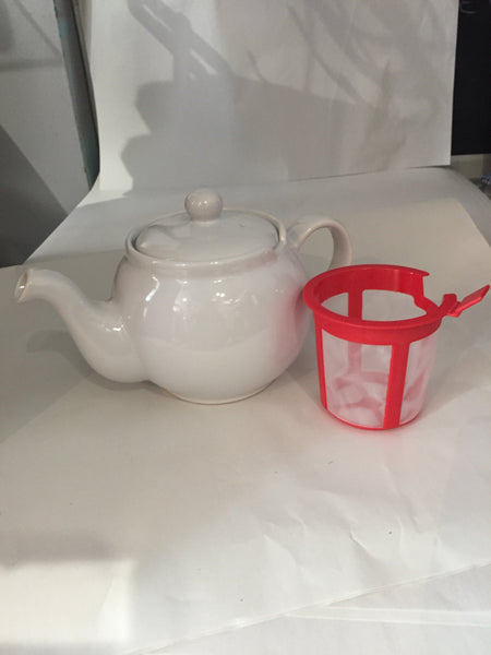 Tea Pot with Filter 4cup White Chatsford