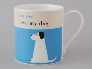Repeat Repeat - Happiness Dog Mug - Turquoise