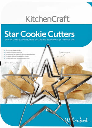 Star Cookie Cutters-Set of 3