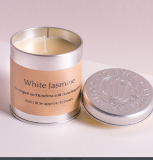 St Eval Candle Co - White Jasmine Scented Tin Candle