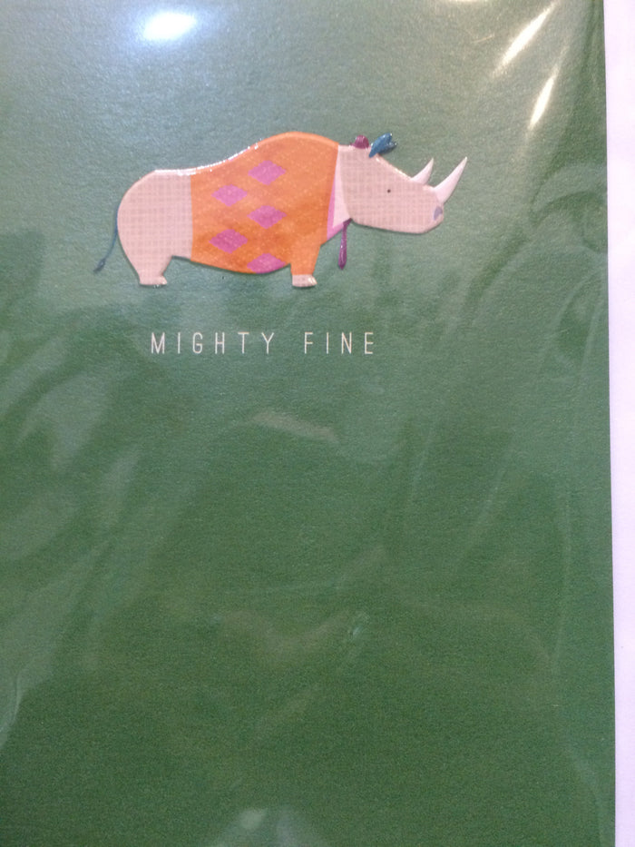 Card mighty fine rhino