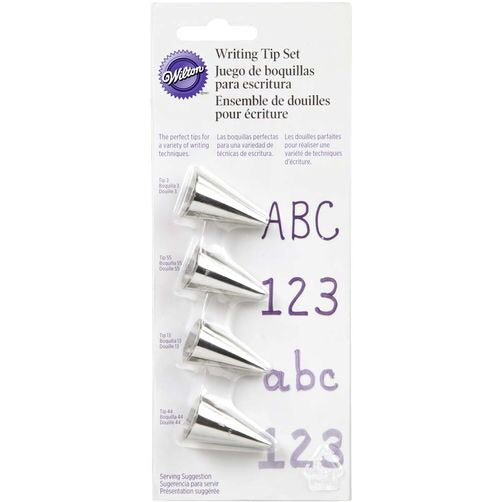 Wilton - Writing Tip Set - 4PC