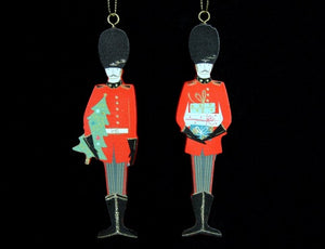 Christmas. Queens Guardsman Wood Decoration