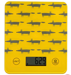 Scion Living - Mr Fox - Electronic Kitchen Scales - Yellow