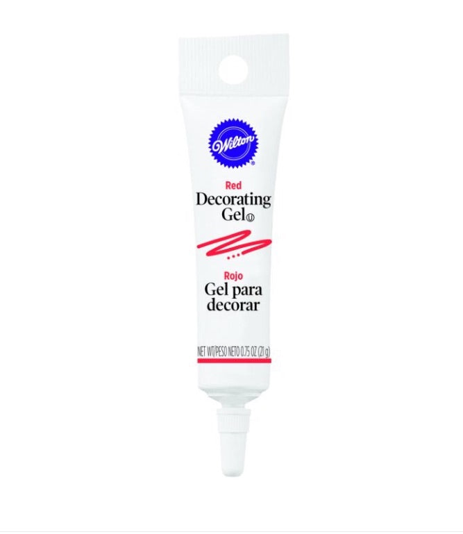 Wilton red decorating gel