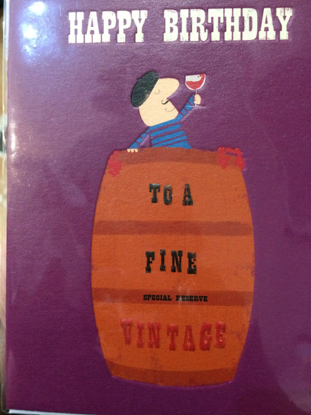 To a fine vintage