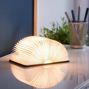 Gingko - Mini Smart Book Light - Walnut
