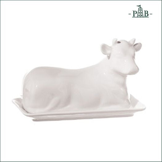 Cow butter dish 7.5""