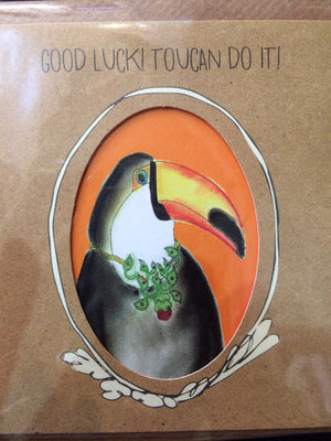 Card good luck toucan do it