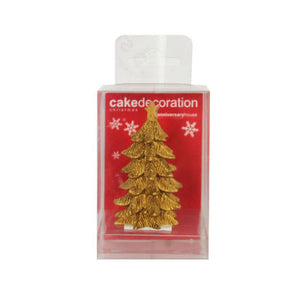 Anniversary House - Gold Resin Christmas Tree