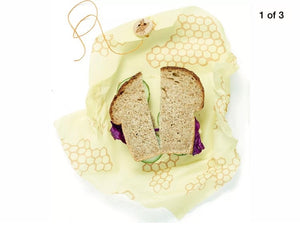 Bees Wrap Sandwich Honeycomb Wrap Single Sheet 13 x 13inch