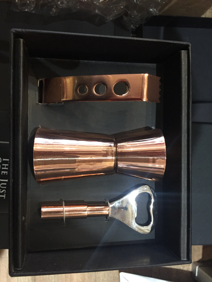 Copper drinks accessory set