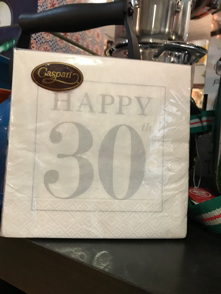 Caspari Happy 30th Napkins