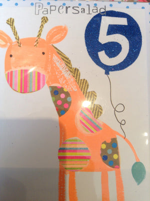 5th birthday orange giraffe