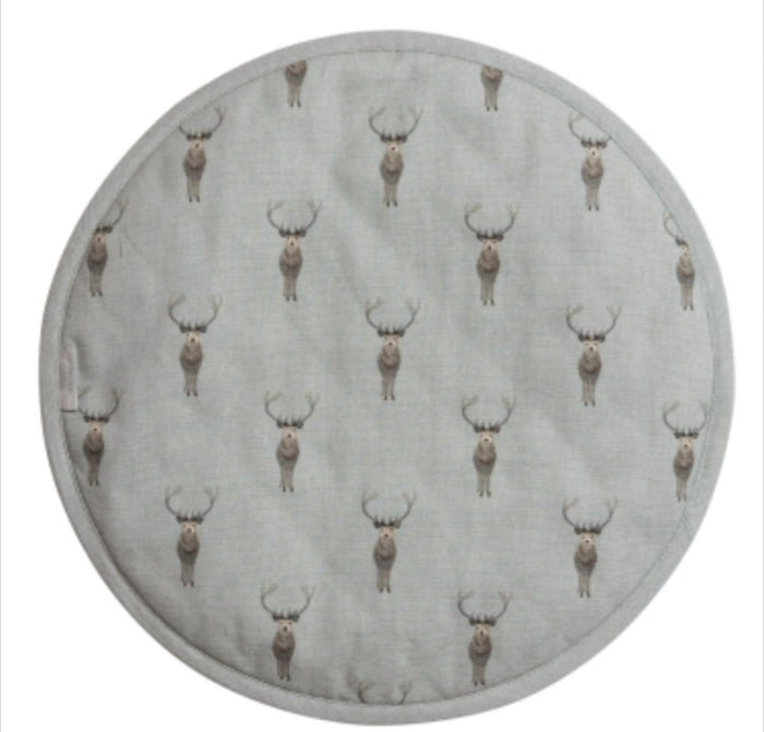 Sophie Allport - Highland Stag Round Hob Cover