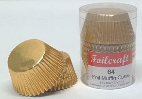 Foilcraft - Gold Muffin Cases 24 Pack
