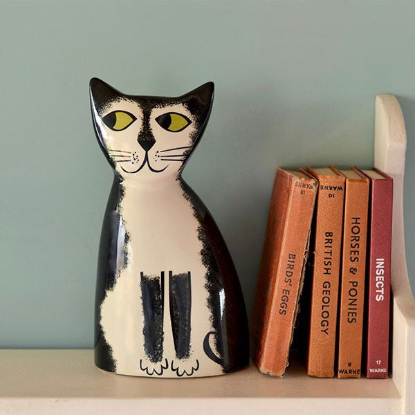 Hannah Turner Black and White Cat Money Box