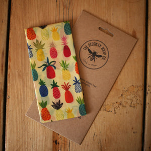 The Beeswax Wrap Co. - Bread Wrap - Pineapple Print