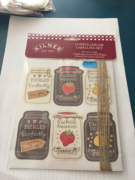 Kilner 13 Piece jam Jar labelling set
