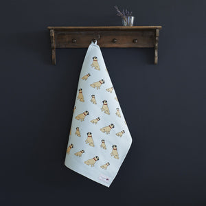 Sweet William - Tea Towel - Pug