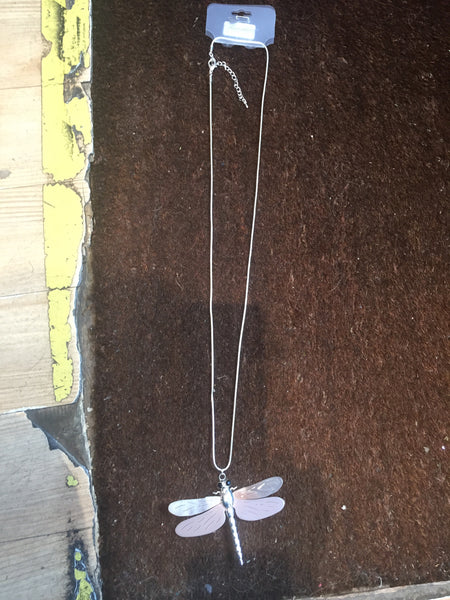 Necklace Dragonfly Pink