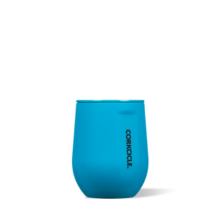 Corkcicle 12oz Neon Blue Stemless Tumbler