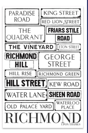 Richmond Green Tea Towel Streets