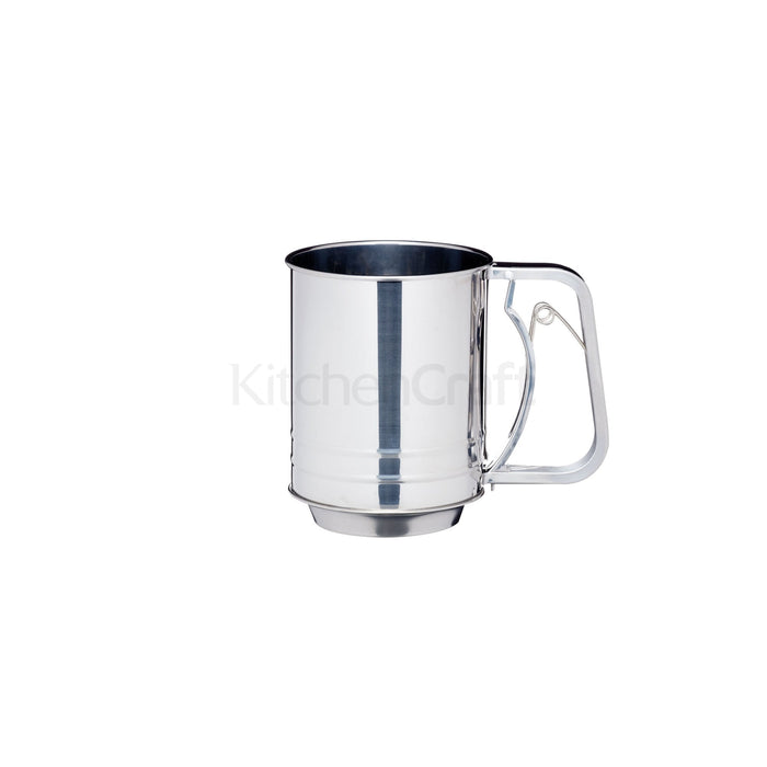 KitchenCraft - Stainless Steel Trigger Action Flour Sifter