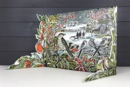 Art Angels - Holly Hedge Freestanding advent calendar
