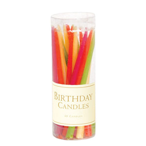 Birthday candles set of 20 Tutti Frutti