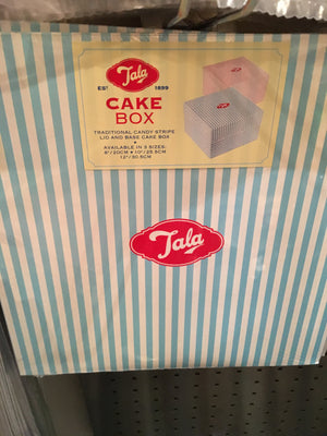 Blue candy stripe 10 inch box