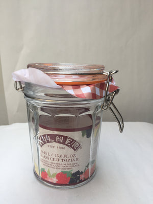 Facetted Clip Top Jar 450ml