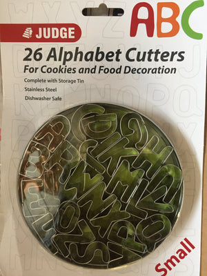 Judge - 26 Alphabet Cutters Small