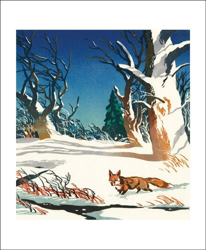 Art Angels Card Red Fox
